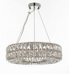Crystal Nimbus Ring Chandelier Modern Contemporary Lighting Pendant 20quot; Wide $479.13