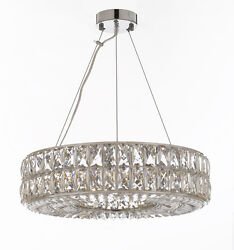 Crystal Nimbus Ring Chandelier Modern Contemporary Lighting Pendant 20quot; Wide $416.83
