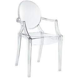 Acrylic Chair Transparent Armchair Dining Chair Modern Plastic Lucite CLEAR