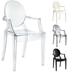Acrylic Chair Lucite Armchair Dining Chair Modern Plastic Chair Transparent