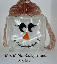 Cute Scarecrow Face Decal sticker for DIY glass block shadow box