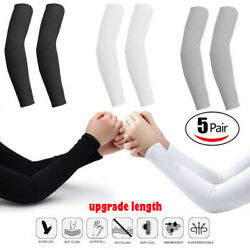 5 pairs Cooling Arm Sleeves Cover UV Sun Protection Basketball Sport (10 pieces) $8.99