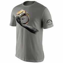 Nike Lebron James Finals 2016 Celebration Champion Ring T-Shirt Light Gray Grey