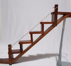 Wood Stairs Shelf With Railing Vintage Knick Knack Curio Kitschy Display