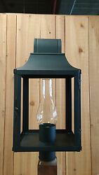 PERIOD LIGHTING FIXTURES SL401P Colonial style Post Lantern in Black