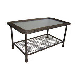 SALE Garden Treasures  Severson Rectangle Coffee Table Patio Tables Furniture