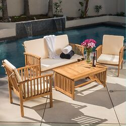 Patio Furniture Clearance Outdoor Plans Sets Cushions Wood 4 Piece Casual Sale