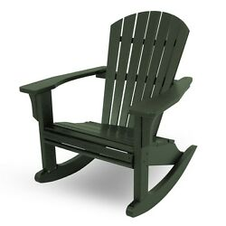 POLYWOOD SHR22GR Seashell Outdoor Adirondack Rocking Chair