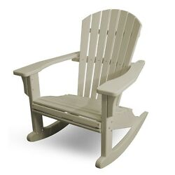 POLYWOOD SHR22SA Seashell Outdoor Adirondack Rocking Chair