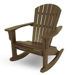 POLYWOOD SHR22TE Seashell Outdoor Adirondack Rocking Chair