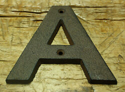 Cast Iron Industrial LETTER A Sign Rustic Brown 5quot; tall Alphabet $6.99