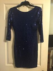 Gianni Bini Sequined Blue Cocktail Dress Size Small New With Tags Retails $129 $34.00