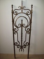 WROUGHT IRON STAIRS SPINDLES FOR RAILING ART WORK HANDCRAFTED 10 Pc 40''x 11''