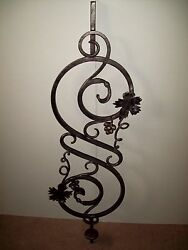 WROUGHT IRON STAIRS SPINDLES RAILING ART WORK HANDCRAFTED 10 Pc 44''x 13'' NEW