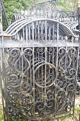 WROUGHT IRON FENCE 46''x 66'' METAL ART WORK HANDCRAFTED 10 Pcs