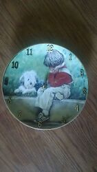 A Boy and His Dog Wall Clock $34.50