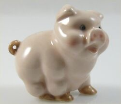 Ceramic Pig Figurine Pink Handpainted approx 1.7quot; long 1.6quot; tall standing $8.99