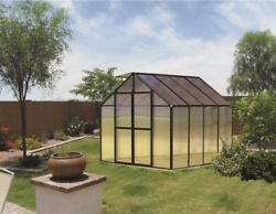 8' x 8' Black Monticello Greenhouse by Riverstone - Free Shipping