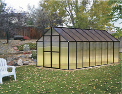 8' x 16' Black Monticello Greenhouse by Riverstone - Free Shipping