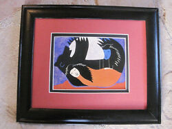 Sonja Wold SHE HELPED HIM INTO THE SEA Alaskan  Matted  framed 8x10 print