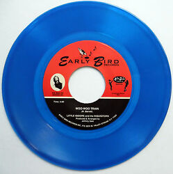 LITTLE ISIDORE & INQUISITORS blue vinyl MINT minus 45 Woo-Woo Train I Pray e7268