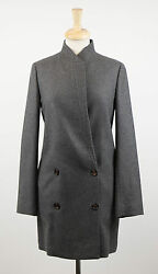 NWT BRUNELLO CUCINELLI Woman's Gray Cashmere Full Length Coat Size 844 $6695