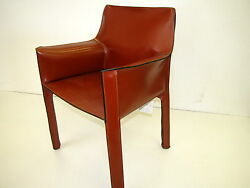 Red Leather Cassina Armchair CAB 413 Immaculate Free Shipping