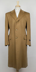 New D'AVENZA Brown Pashmina Cashmere Full Length Coat Size 5040 R $4995