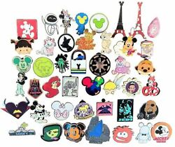Disney Pin Trading 50 Assorted Pin Lot - Brand NEW Pins - No Doubles - Tradable $27.45