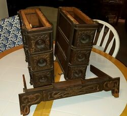 1903 Singer Treadle Sewing Machine Drawers 6 + Center Pull-Out very nice!