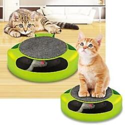 Mouse Catch Cat Toy Groomer Scratch Pad Pet Fun Kitten Interactive Playtime $11.88