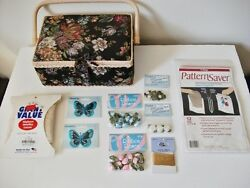 Sewing Supplies! Sewing Box Pattern Savers Appliques Lace & More - New!!