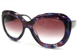 AUTHENTIC CHANEL Butterfly Shape CC Sunglasses Purple Based 5323-A