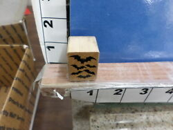 halloween scary bats fly night sky rubber stamp 1Y $7.12