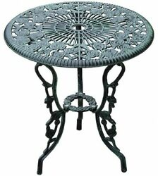 Outsunny 3-Piece Outdoor Cast Iron Patio Furniture Antique Style Bistro Dining