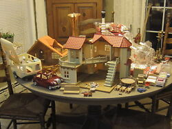 CALICO CRITTER LOT LOG CABIN COTTAGE HOUSE - TOWNHOUSE CAMPER CAR ACCESSORIES