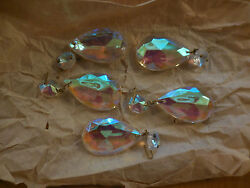 Five Clear Crystal French chandelier parts Prisms $8.99