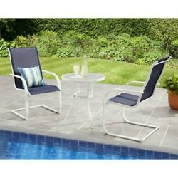 Bistro Table And Chairs Set Outdoor Patio Dining Porch Furniture Sling 3 Piece