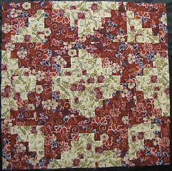 16 PRE-CUT Log Cabin Top Quilt Block KIT (8.5