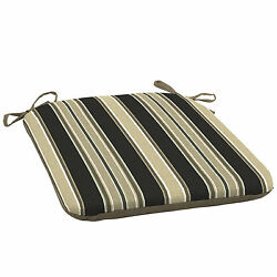 Patio Chair Seat Cushion Replacement Pad Tan Stripe for Outdoor Furniture Yard