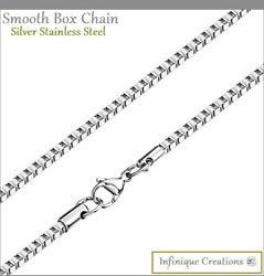 Stainless Steel Silver Box Chain Bracelet Necklace Men Women 1mm 4mm 7quot; 38quot; $7.39