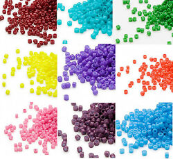 1200 Miyuki Delica #11 Glass Seed Beads 110 Lots of Opaque Colors 7.2 Grams