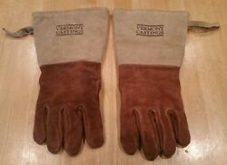 VERMONT CASTINGS LEATHER HEAT SAFETY GLOVES FIREPLACE & STOVE