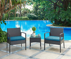Patio Table and Chairs Set 3 Piece Deck Porch Pool Furniture Outdoor Home Decor