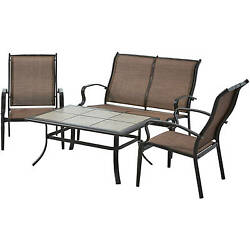 Patio Furniture Set Clearance Conversation Slings Outdoor Table Chairs Loveseat