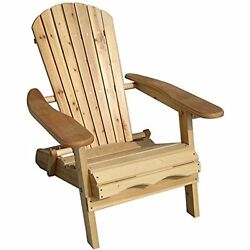 Garden Foldable Adirondack Chair Seating Outdoor Furniture Patio Lawn Deck