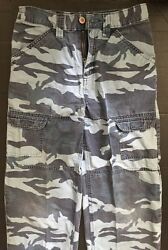 Blue Camouflage Cargo Jeans Boys 12 $5.00