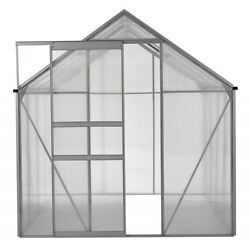 6' x 8' Aluminum Frame Greenhouse with Polycarbonate Panels - Free Shipping