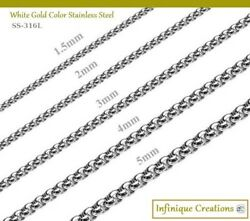 Stainless Steel Silver Round Box Chain Bracelet Necklace Men Women 7quot; 38quot; $7.59
