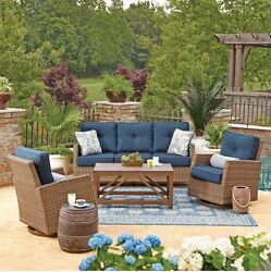 Wicker Furniture Indoor Patio Table And Chairs Clearance All Weather Swivel